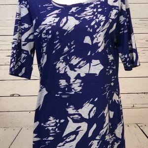 NWOT LulaRoe Julia Dress XL Extra Large S/S Purple
